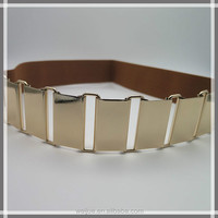 Simple elastic belt with alloy buckle for women
