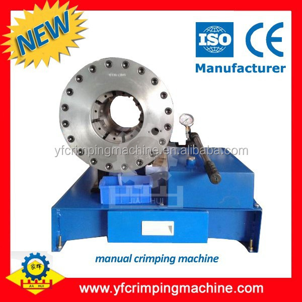 Manual hydraulic brake hose crimping machine