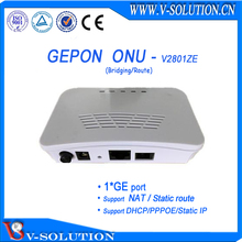 White Mini Plastic Housing ZTE Chipset 1 GE EPON ONU with Bridging or Route