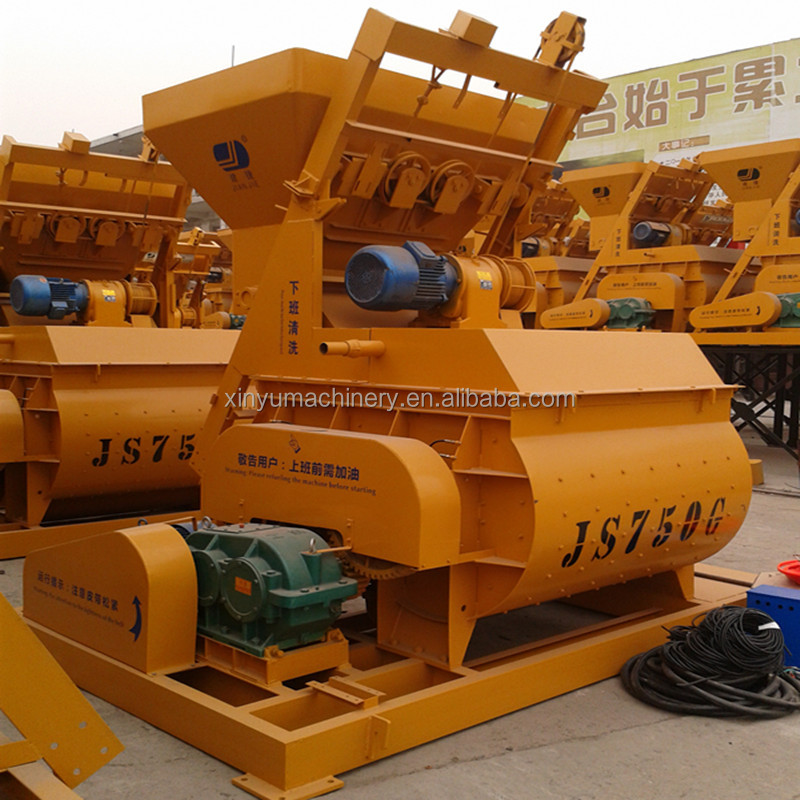 High quality Construction Equipment/Concrete Machine JS750 ready mix concrete mixer