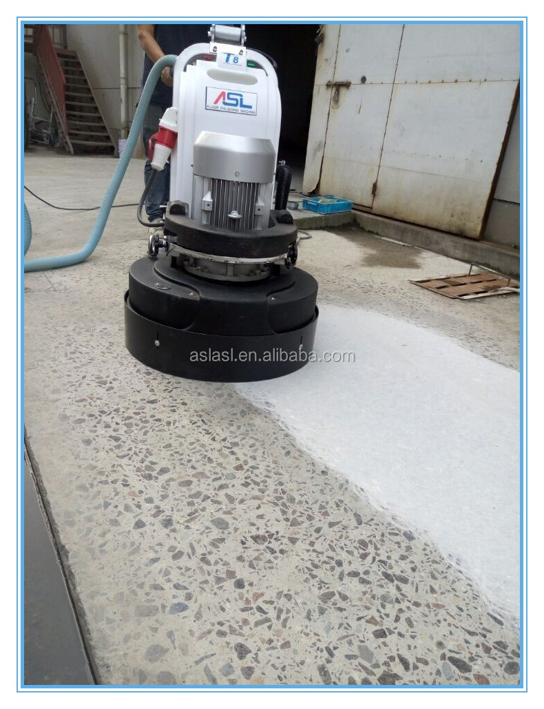 ASL-T8 Planetary Gear Driving Floor Grinding Machines With Nozzle and LED Concrete Surface Preference Shanghai Manufacture