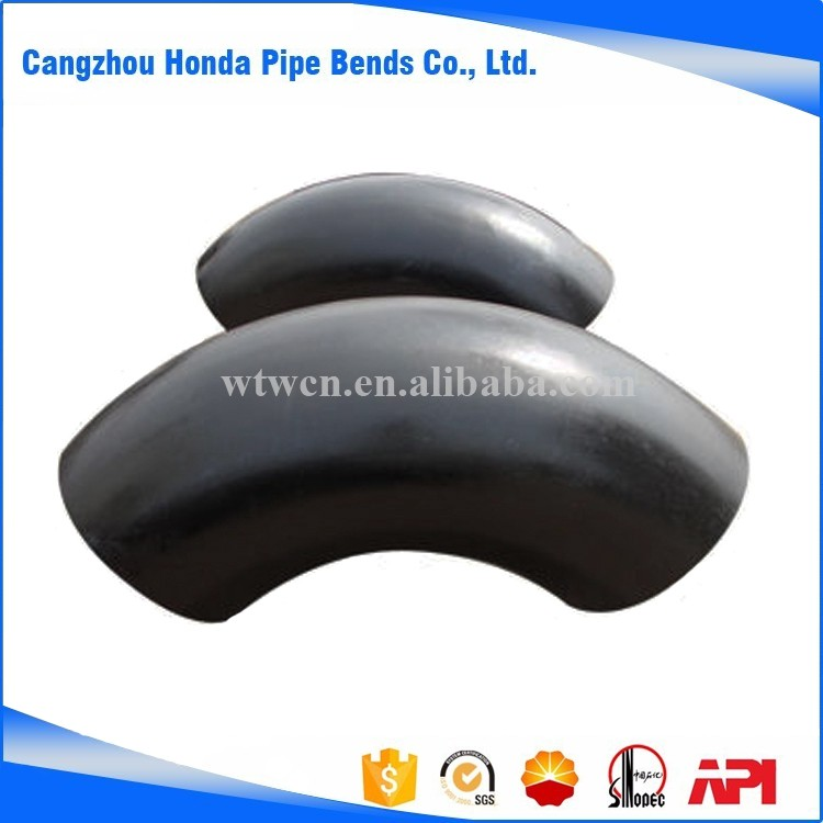China hot induction carbon steel pipe elbow