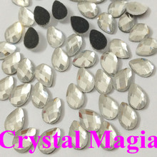 8*5mm mutil faces waterdrop crystal hotfix rhinestone