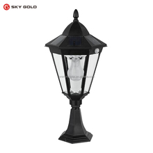 Hot sales high power solar gate post pillar light LED solar pillar light for outdoor
