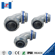 Zinc Plated Steel Flexible Conduit Liquid Tight Angle Connector