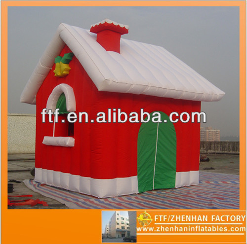 2,5m high 2m wide red Oxford fabric snows Inflatable Christmas house