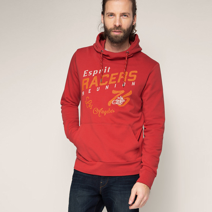 Best quality custom red mans print windproof knight hoodie made in china