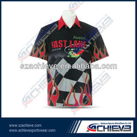 Custom race crew shirts,kart race wear