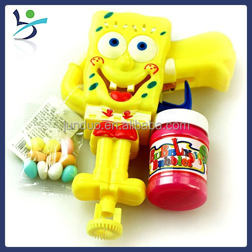 spongebob Cartoon candy toy bubble Water gun & suitable for candy toy with 5g candy