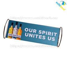 Promotional gifts double sides printing hand held PET Scrolling rolling banner