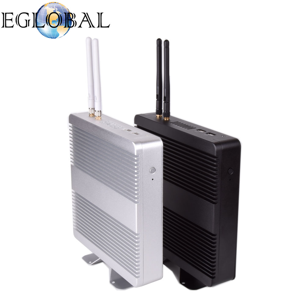 EGLOBAL New product-Fanless Mini PC V8 unique design Intel Core i5 5250U computer box mini pc <strong>1080p</strong>