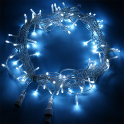 10M 100 LED clear pvc wire outdoor decoration white color Lights with string christmas light