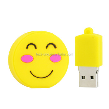 smile face emoji metal usb memory flash stick usb 2.0 cartoon pendrive white unicorn poo drive disk