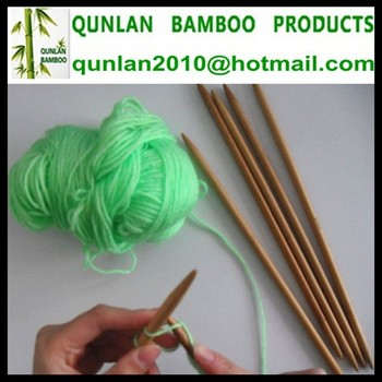 Bulk Packing Double Pointed Bamboo Knitting Needles wholesale