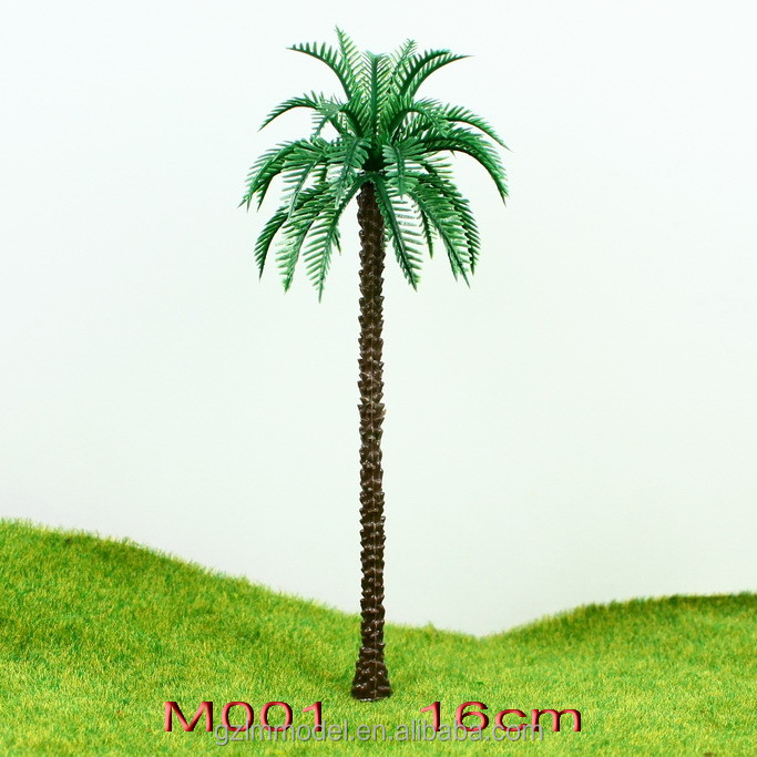 Hot selling Plastic palm trees M010 for model landscape