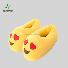 Wholesale Hot Selling Emoji Women's Plush Emoji Slippers