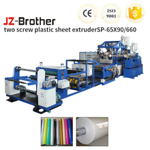 Full Auto Two Screw Stretch Film Plastic Extrusion Cup Making Machine