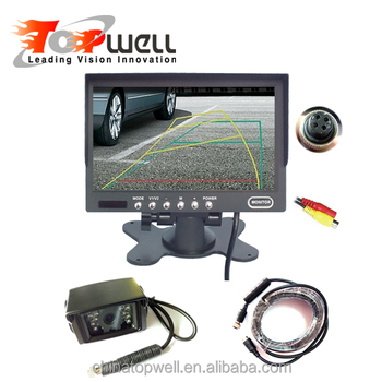 Durable Reversing System With Night Vision CCD Camera 7'' Durable LED Backlight HD Monitor