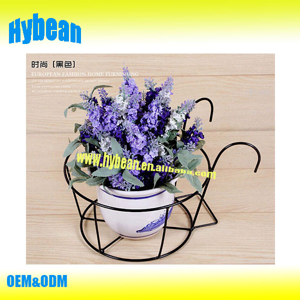 2016 hardware factory supply metal hanging flower pot stand