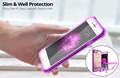 Beautiful Mobile Phone Back Cover Case For Iphone 7,Shiny Transparent Plastic Rubber Clear Case For Iphone