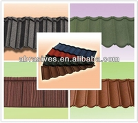 aluminium stone granule coated steel roof tile
