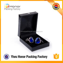 Factory price top quality made in China popular new products custom order black branded gift box cuff link little jewelry box
