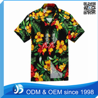 Customized 100% Cotton Man Flower Printing Shirt