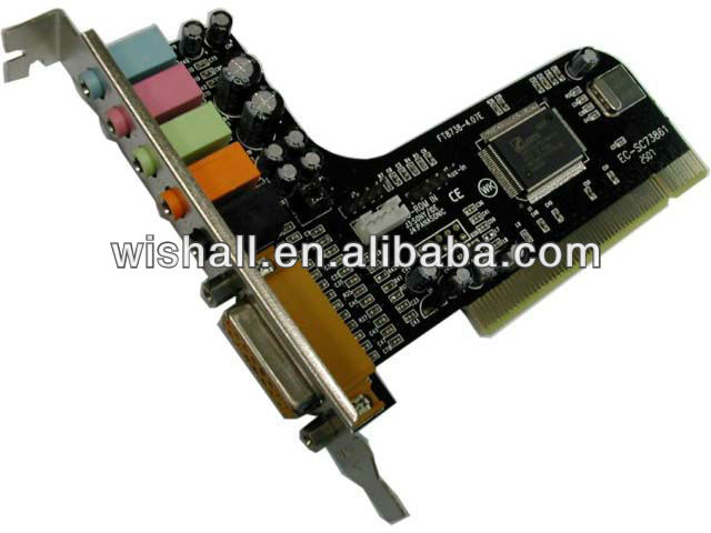 CMI8738 6 Channel PCI Sound Card with Game port