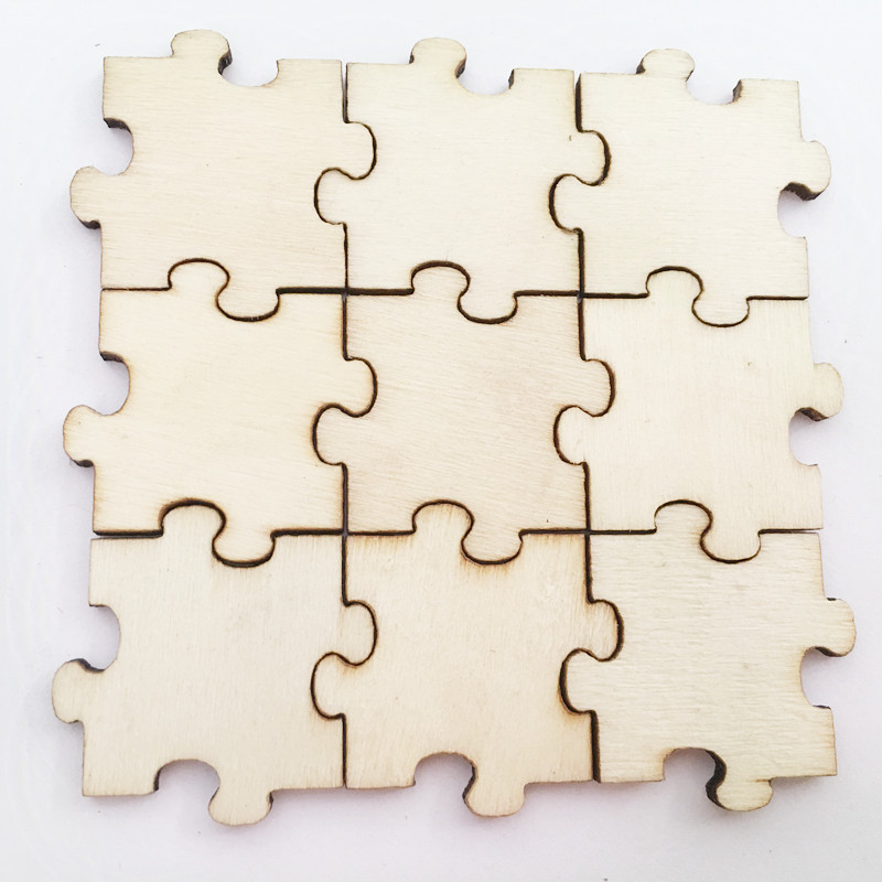 Hot thermal sublimation custom wooden blank puzzle