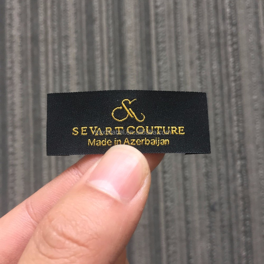 2017 custom 50d high definition clothing woven labels with high quality
