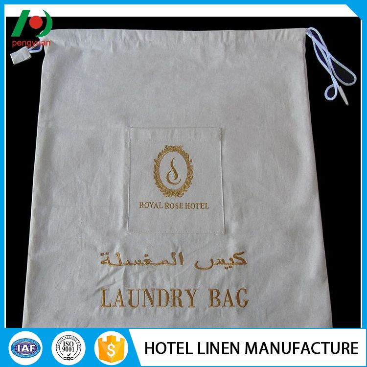 competitive price promotional packaging laundry bags with string