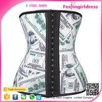 Wholesale New Arrival America Dollars Printing Latex Back Pain Corset