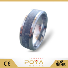 POYA Jewelry Mens Womens Tungsten Carbide Dyed Big Leaf Maple Inlay Wedding Band Rings