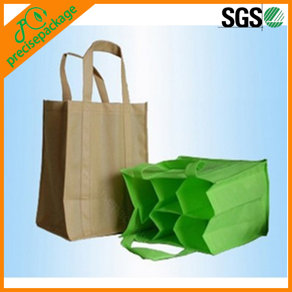 PP non woven 6 bottle wine bag with dividers