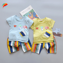 Baby summer clothes T shirt shorts clothing set children's summer clothing set