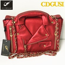 High Quality Women Designer locomotive Leather Handbags Jacket Bags Women Clothing Shoulder Messenger Bag