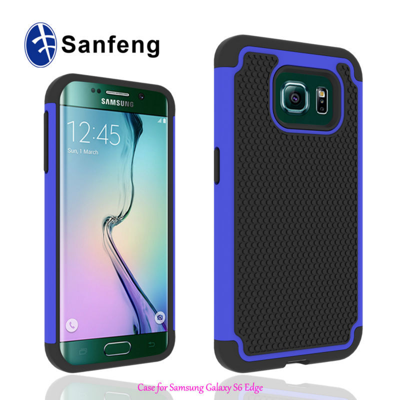 Smart three layers combo hybrid case for Samsung Galaxy s6 edge shockproof mobile phone case cover