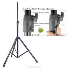Metal Tripod Speaker Stand with Auto Locking Pin and Air Cushion