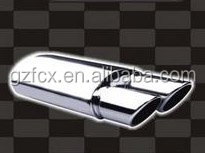 Hot sell auto universal muffler with double round tips