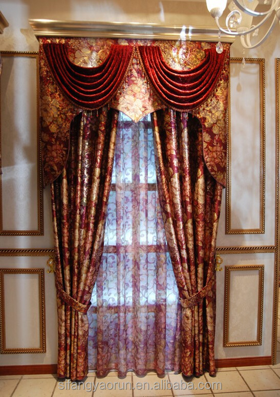 curtains red and gold decorate our home with beautiful