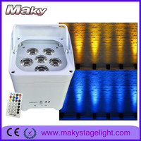 MAKY MQ-G103 battery powered wireless dmx 6*18w Rgbwa+uv 6in1 Led Upward Wash Par Light with auto sound active