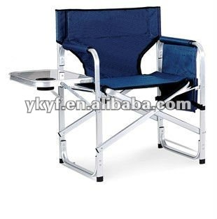 Folding director chair with side table and bags