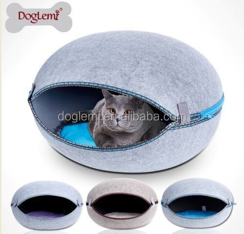 Trade Assurance Newest Pet Products China Manufacturer Folding luxury Pet Cat Egg Bed House