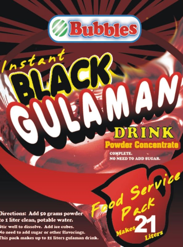 Instant Black Gulaman Drink Powder Concentrate