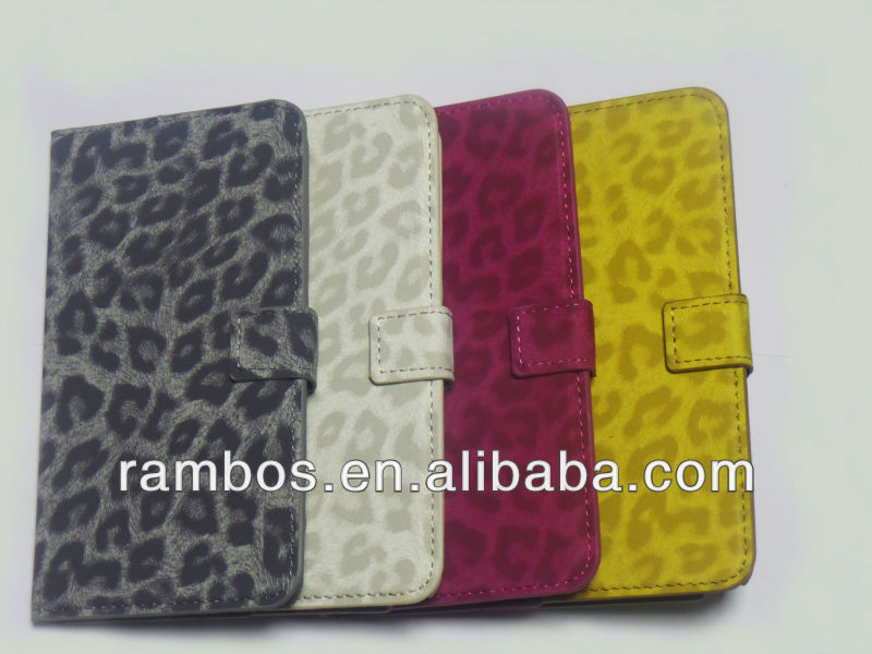PU Leather Protector Wallet Leopard Pattern Skin Phone Case for Samsung Galaxy Note 3 N9000