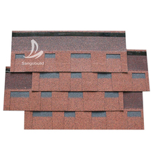 Architectual shingle Hexagonal 3-tab asphalt roofing shingle Kenya/Chile/Ghana