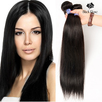 7A Peruvian Virgin Hair Straight Hair 100% Virgin Remy Human Hair Weave