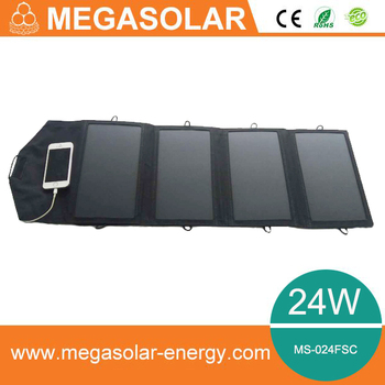 Factory price 24W folding Solar Charger For cellphone