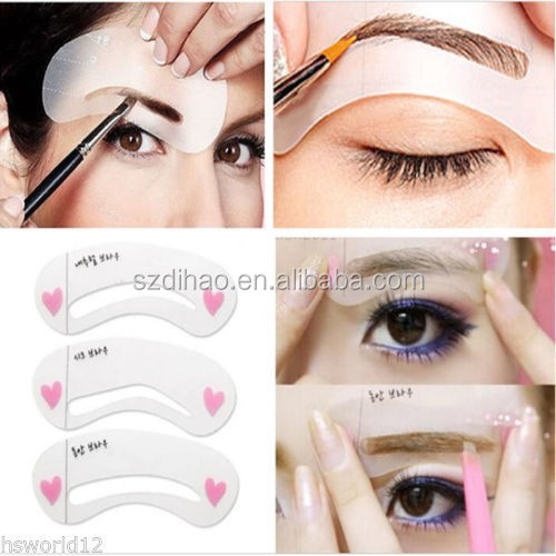 DIHAO Beauty Rule Eyebrow Models ,3 types of eyebrow design Templates Class Drawing Guide Eyebrow Styling Tool Stencils