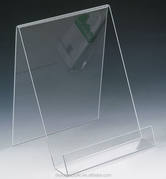Cheap acrylic book reading stand / magazine holder for book shop